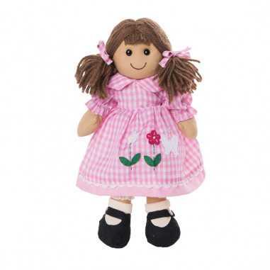 Bambola My Doll Lottie Rosa a Qudretti con Decorazioni